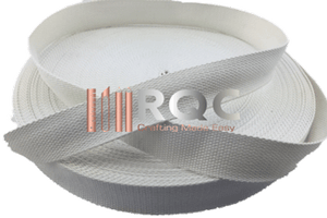 "White Cotton Webbing 32mm / 1.25"" by the yard"
