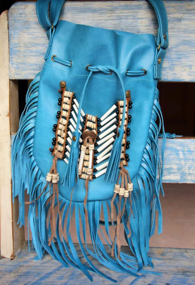 Boho bag turkos