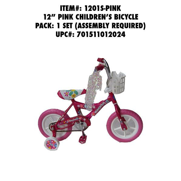 "12""WHEEL CHILDREN BMX BIKE PINK"