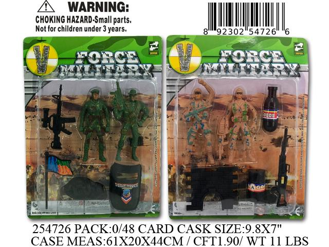 "9.8X7""SOLDIER FORCE MILITARY FIG. SET"
