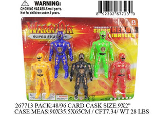"9X2""5PC POWER HERO FIG DOLL"