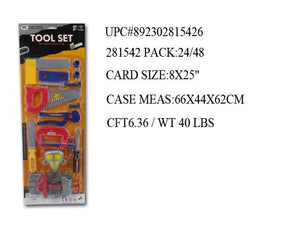 "25X8""13PC TOY TOOL PLAY SET"