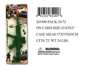 "21X3""F/P GREEN MACHINE GUN"