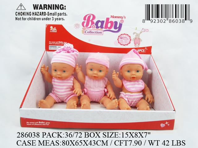 "9.5""SOFT VINYL BODY IC BABY DOLL 6DBX"