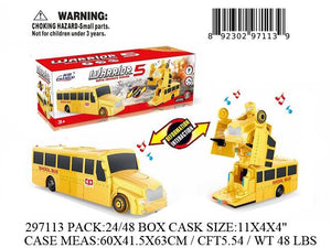 "11X4X4""B/O IC BUMPNGO ROBOT SCHOOL BUS"