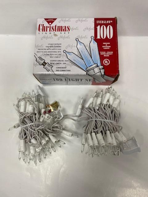 100 UL WHITE/CLEAR MINI XMAS LIGHTS