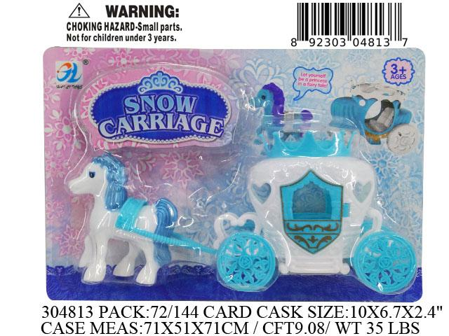"10X6.7X2.4""PULL N GO SNOW CARRIAGE"