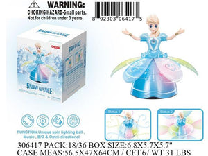 "9X6X6""B/O IC BUMPNGO DANCE BLUE PRINCESS"