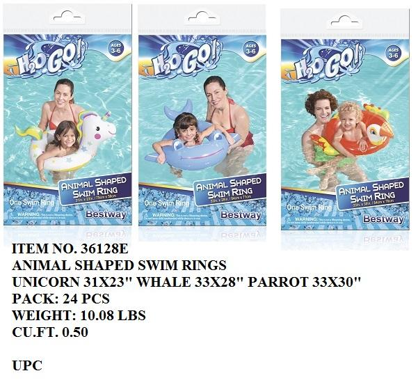 "33X30""H2O GO 3/A ANIMAL SHAPED SWIM RING"