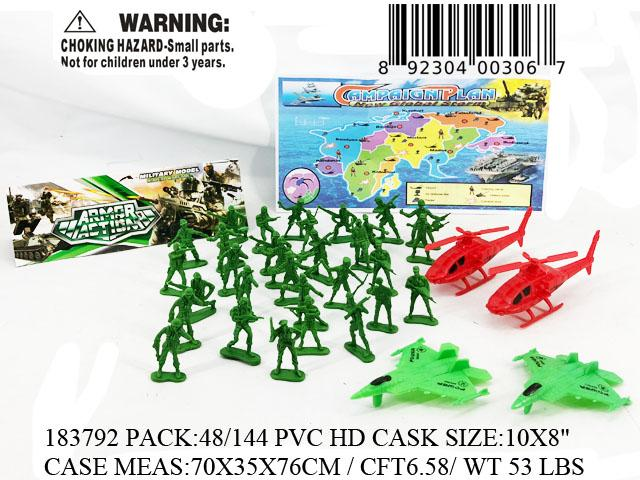 "10X8""34PC SOLDIER COMBAT SET"