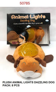 PLUSH DAZZLING DOG NIGHT LIGHT