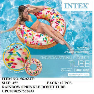 "45"" SPRINKLE DONUT TUBE SWIM RING"