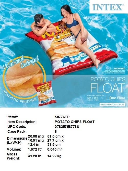 "70X55"" POTATO CHIPS FLOAT"