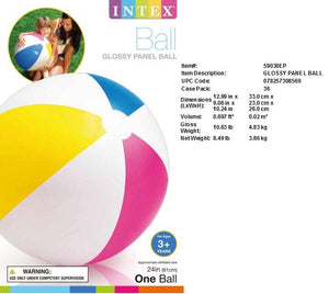 "24""GLOSSY PANEL BEACH BALL"