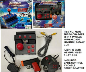 TURBO CHARGER 76 IN1  TV GAME+JOYSTICK & GAME GUN