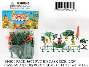 "12X9"" COMBAT SOLIDERS FIG. PLAY SET"