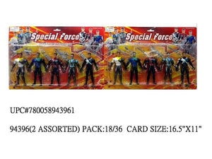 "5PC 5.5""SPECIAL FORCE HERO FIG."
