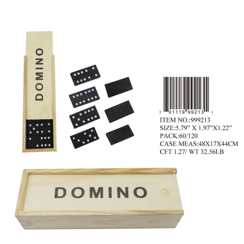 WOODEN DOMINOE SET