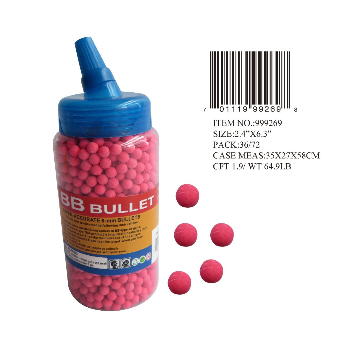 2000 PC RED 6MM BB PELLETS