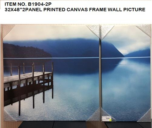 2 PANEL BLUE PIER/LAKE CANVAS