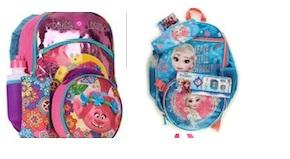 5PC SET BACKPACK  FROZEN & ROLLS MIX