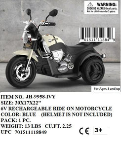 6V RECHARGEABLE RIDE ON MOTORCYCLE