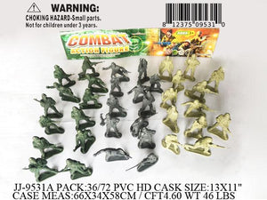 "13X11""36 PC COMBAT SOLDIER FIG.  PBH"