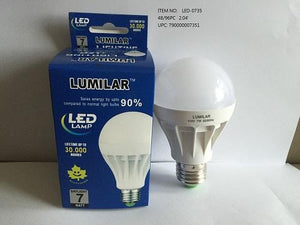 7W LED LIGHT BULB DAY WHITE COL