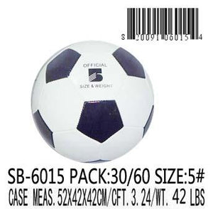 SOCCER BALL 250G BLACK & WHITE