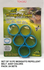 10 PACK MOSQUITO REPELLENT BANDS