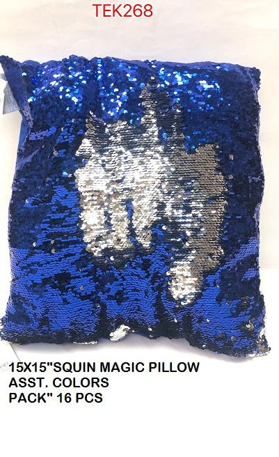 "15X15""SEQUIN MAGIC PILLOW ASST. COLORS"