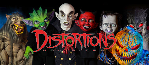 Halloween Props and Animatronics Distortions Logo