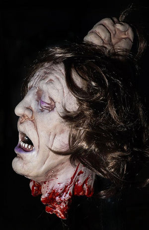 Fresh Beheaded gory severed head prop by Distortions Unlimited