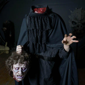 Headless Henry Halloween costume with severed head prop by Distortions Unlimited