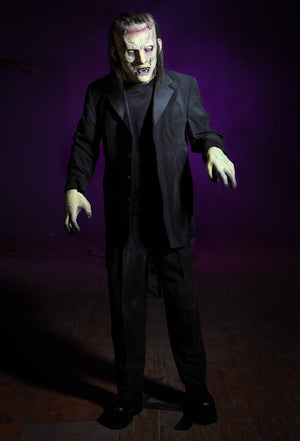 The Monster Legend Halloween standing prop by Distortions Unlimited towers 6 ½ feet tall