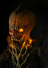 Face of the Pumpkin Stalker creepy Halloween display by Distortions Unlimited