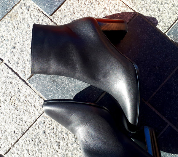 Ankle boots with block heel