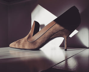 Pumps in khaki
