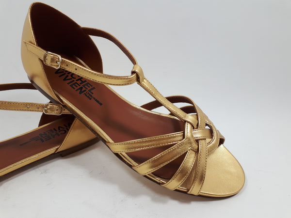 Sandal in vintage gold