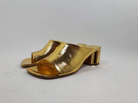 Sandals in soft golden leather
