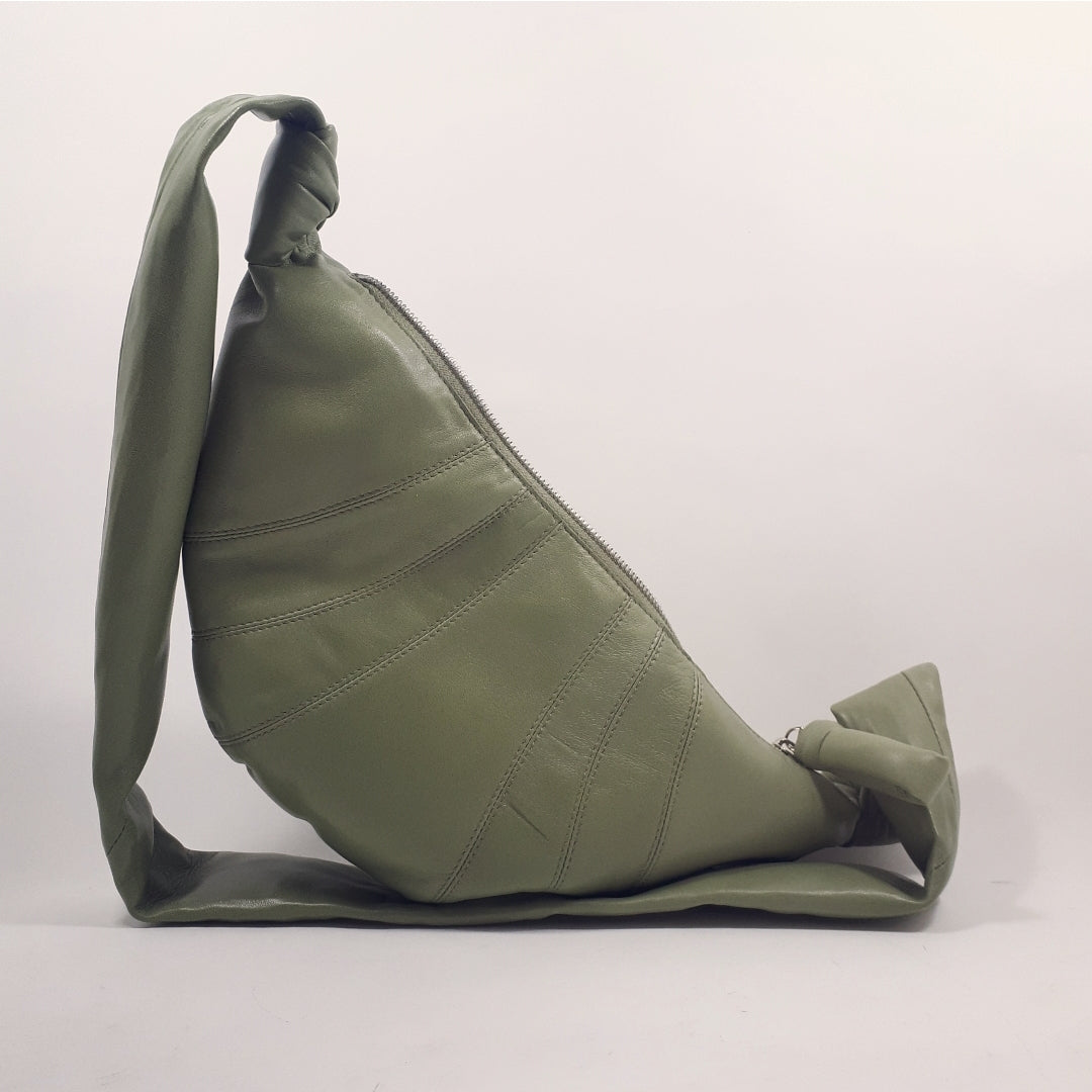 Croissant bag in sage green