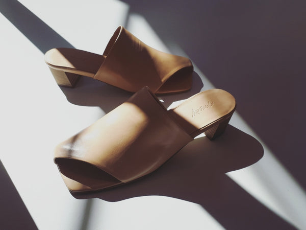 Mule in nude colour