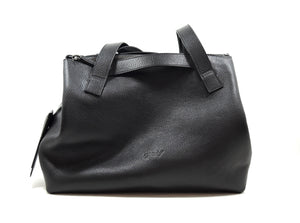 Big bag in granulated soft leather
