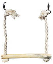 Load image into Gallery viewer, CRAFTMAVEN  HARDWOOD BIRD TOY #3 : HARDWOOD PLAY SWING WITH ROPE