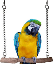 Load image into Gallery viewer, CRAFTMAVEN HARDWOOD BIRD TOY #4 : HARDWOOD PLAY SWING WITH ROPE