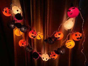 CRAFTMAVEN STRING LIGHTS #2 COTTON BALL HALLOWEEN THEMED  LED STRING LIGHTS