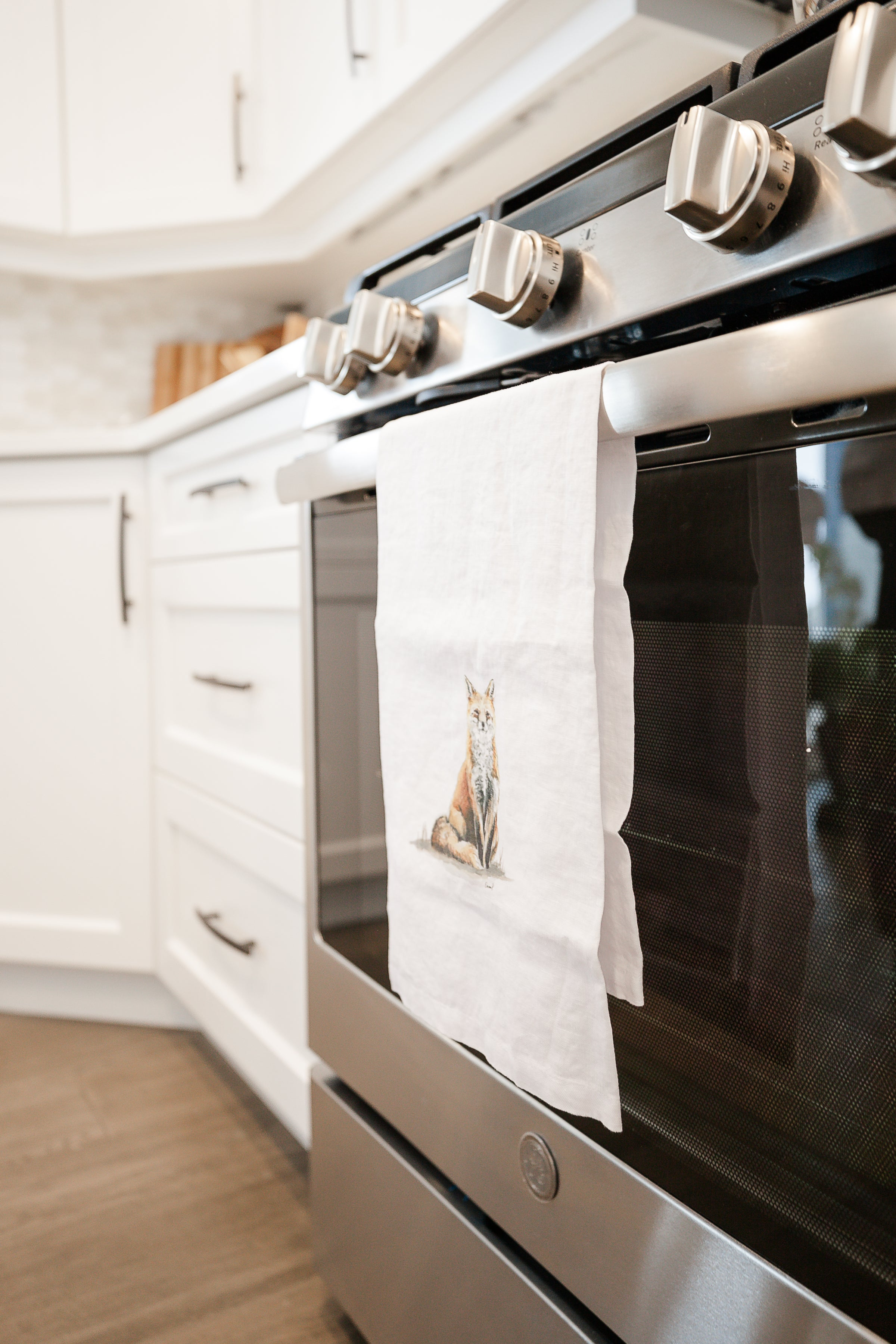 Regal Fox French Linen Tea Towel