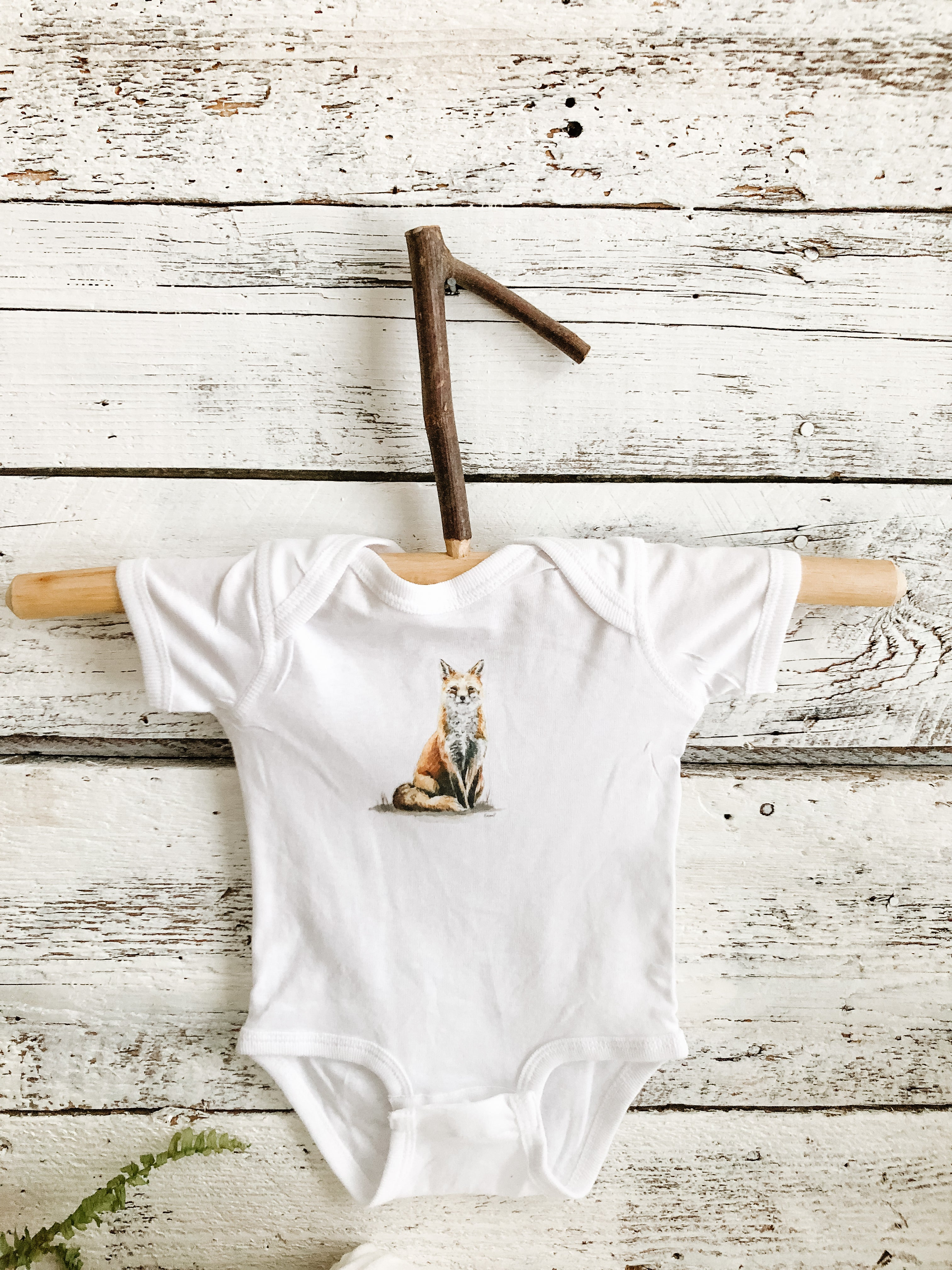 New baby gift set with fox art