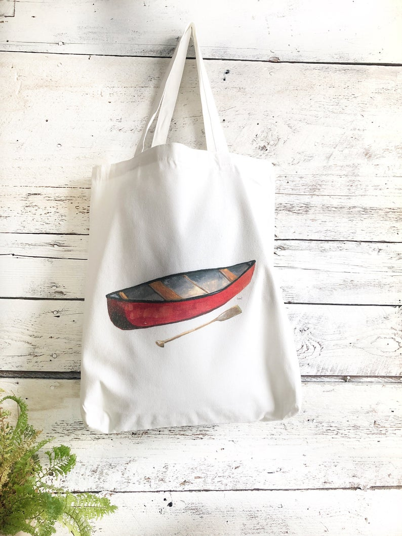 Red Canoe Cotton Market Bag