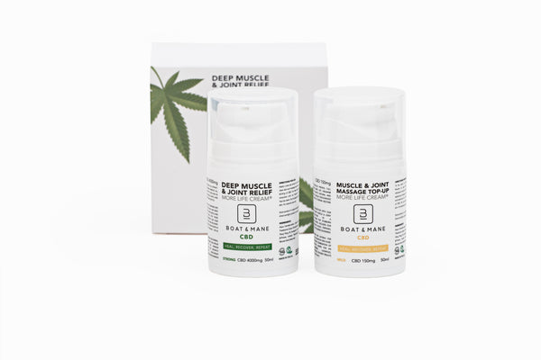 Boat & Mane CBD - 4,000mg Deep Muscle Relief and Recovery High-Strength Cream & 150mg Top-Up Cream